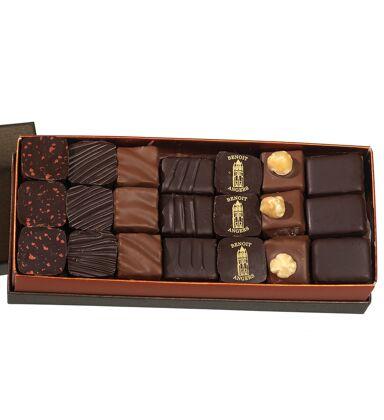 Coffret Délices Assortiment de chocolats noirs (340g)