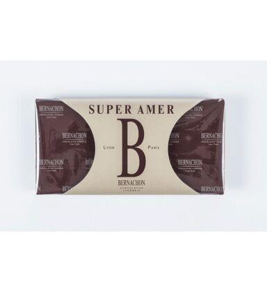 Tablette chocolat noir super amer 75% - 150g