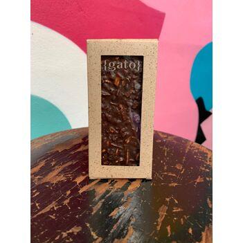 """Tablette gourmande """"façon dingueries"""" chocolat noir 66%"""