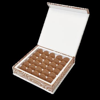 Coffret 30 chocolats blond praliné