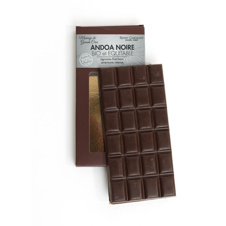 Tablette chocolat noir grand cru 70 % Andoa